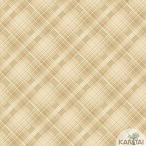 Papel de parede New Form Quadriculado Dourado - NF-630804