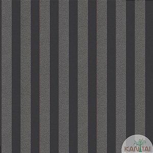 Papel de parede New Form Listrado Chumbo e Prata - NF-631008