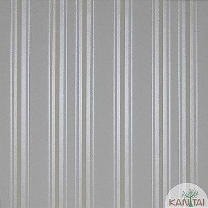 Papel de Parede Nickal Estilo listras Dourado, Verde e Branco  - NK53702