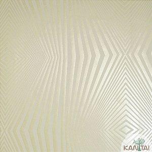 Papel de Parede Nickal Forma Geometrica Branco e Creme - NK53301