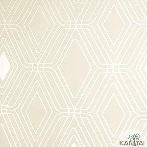 Papel de Parede Nickal Forma Geometrica Branco e Perolá - NK53402