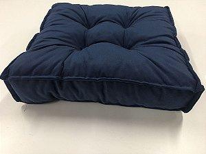 Futton almofada turco Macio 40x40cm Azul marinho