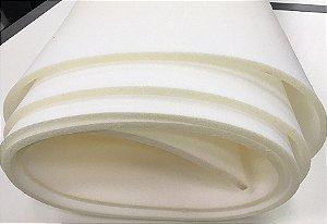 Espuma em metro Branca D28 com 1,88mts de largura com 5 de cm espessura