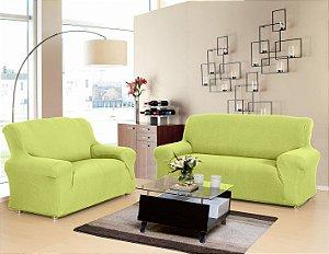 Capa para sofá em malha, 2 e 3 lugares Verde Opala