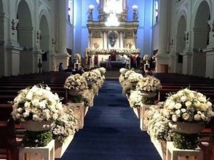 Passadeira Carpete 2m Largura Marinho Para Casamento, Festas 10 Metros de comprimento