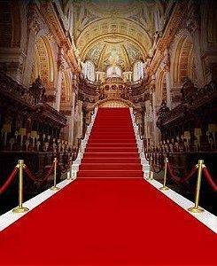 Passadeira Carpete 2m Largura Vermelha Para Casamento, Festas 5 Metros de comprimento