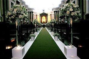 Passadeira Carpete 2m Largura Verde Para Casamento, Festas 15 Metros de comprimento