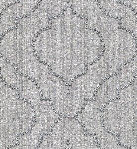 Papel de Parede Vitoriano Abstrato com Círculos Cinza SZ-003361