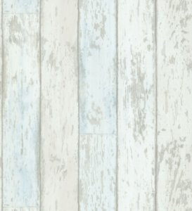 Papel de Parede Garden Estilo Madeira Azul e Marfim - SZ002718