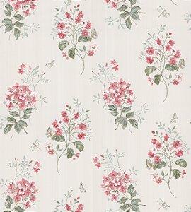 Papel de Parede Garden Flores e Ramos Salmão - SZ002702
