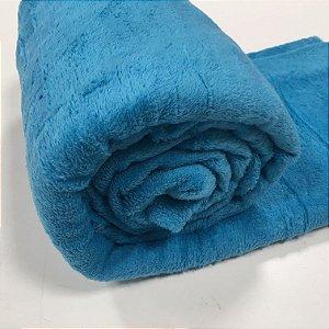 Manta Casal Azul Turquesa Microfibra Macia 1,80x2,20 Fatex