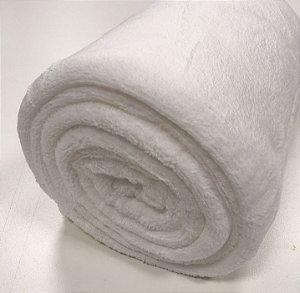 Manta Casal Branca Microfibra Macia 1,80x2,20 Fatex
