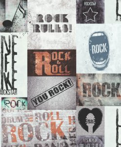 Papel de Parede Freestyle Estilo Rock and Roll - 102567