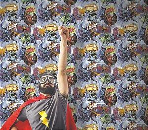 Papel de Parede Freestyle Estilo Poster Super Herois - L31501