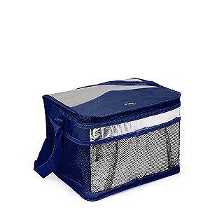 Bolsa Térmica Azul e Prata 10 Litros - MOR