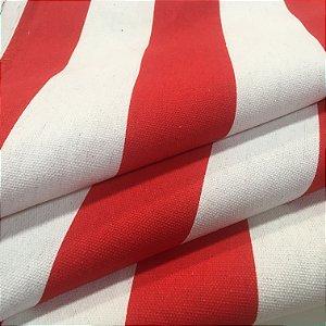 Tecido Estilo Linho Impermeável Vermelho Listrado - Ilhabela 16