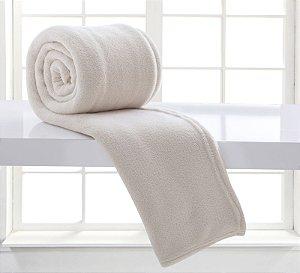Manta Casal Branca Glacê Microfibra Corttex Home Design 1,80 x 2,20 mts