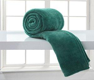 Manta Casal Verde Esmeralda Microfibra Corttex Home Design 1,80 x 2,20 mts
