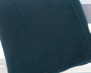 Manta Casal Azul Adriático Microfibra Corttex Home Design 1,80 x 2,20 mts