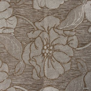 Tecido Jacquard Capuccino Floral - Par 24