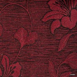 Tecido Jacquard Vermelho Hibisco - Par 35