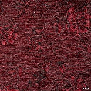Tecido Jacquard Vermelho Rosas - Par 38