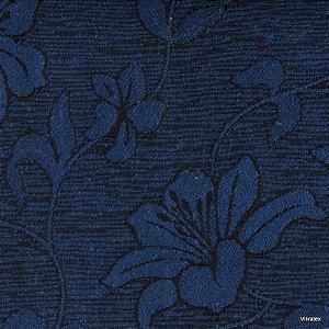 Tecido Jacquard Azul Hibisco - PAR 41