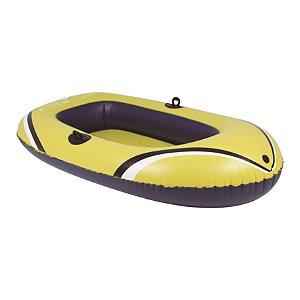 Bote Inflável Amarelo 1,92 x 1,15 metros com Remos e Inflador - MOR