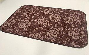 Capacho de Tecido Pop Floral Marrom 40 x 60 cm