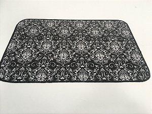 Capacho de Tecido Pop Brasões preto e Branco 40 x 60 cm