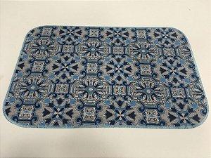 Capacho de Tecido Pop Estilo Gradil Azul 40 x 60 cm