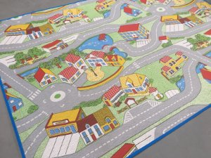 Tapete de Tecido Pop Estilo Cidade de Desenho 1,00 x 1,40 m