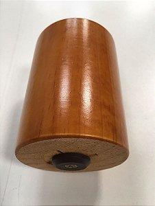 Pé de Madeira Redondo Antares 8cm Mel