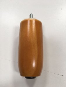 Pé de Madeira Redondo Bargman 10cm Mel