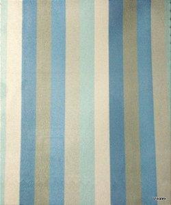 Tecido Suede Listrado Azul Fendy - Tai 11
