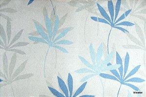 Tecido Suede Flores Azul Cinza - Tai 12