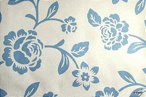 Tecido Suede Rosas Azul - Tai 15