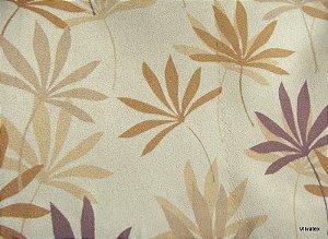 Tecido Suede Flores Caramelo Roxo - Tai 49