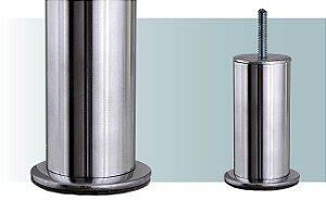 Pe para sofá de alumínio tubular com 10 cm de altura - AL67