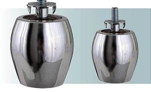 Pe para sofá em aluminio - barril pequeno 5 cm altura - PE01