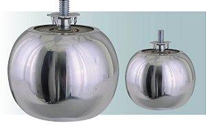 Pe para sofá em aluminio barril pequeno, 6 cm altura - AR56