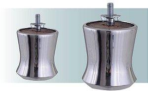 Pe para sofá em aluminio - mini milk, 7 cm altura - AR58
