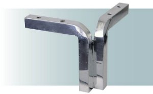 Pe para sofá de alumínio chanfrado canto 10 cm - AR90