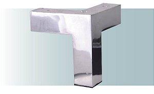 Pe para sofá de alumínio canto bico 10 cm altura - AR93