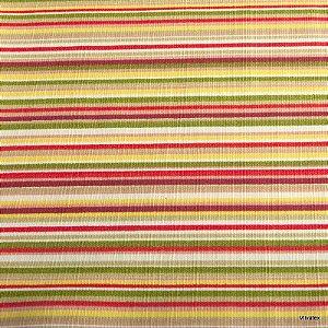 Tecido Algodão linhas Verde, Amarelo Vermelho Impermeabilizado - Can 06