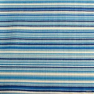 Tecido Algodão Linhas, Azul, Creme Impermeabilizado - Can 26