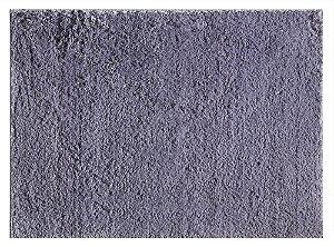 Tapete pelo macio silky 1,00cm x 1,50cm Cinza Viiva