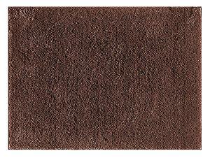 Tapete pelo macio silky 1,00cm x 1,50cm Marrom Viiva