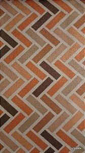 Tecido Suede Geometrico Marrom, Beges - Esmeralda 25