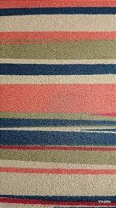 Tecido Suede Listrado Azul, Fendi, Vermelho - Esmeralda 47